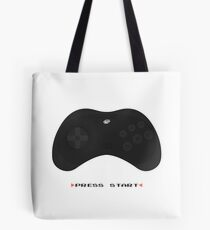 Press Start Sega Saturn (white) Tote Bag