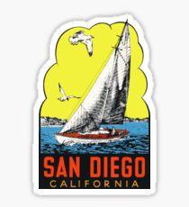 San Diego Kalifornien Vintage Reise Aufkleber Sticker