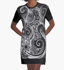 Flowing Flowers Graphic T-Shirt Dress