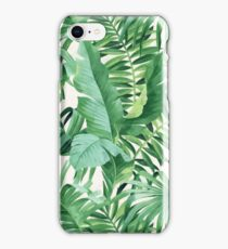 Green tropical leaves II iPhone Case/Skin