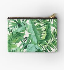 Green tropical leaves II Studio Pouch