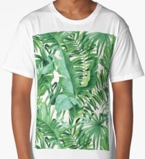 Green tropical leaves II Long T-Shirt