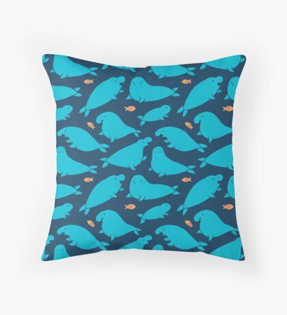 Seals & Fish Throw Pillow
