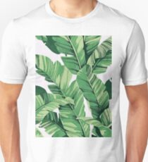 Tropical banana leaves III Slim Fit T-Shirt