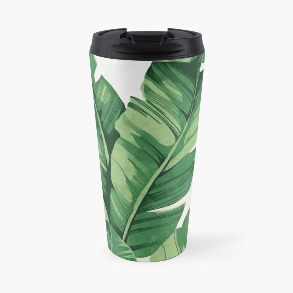 Tropical banana leaves Travel Mug