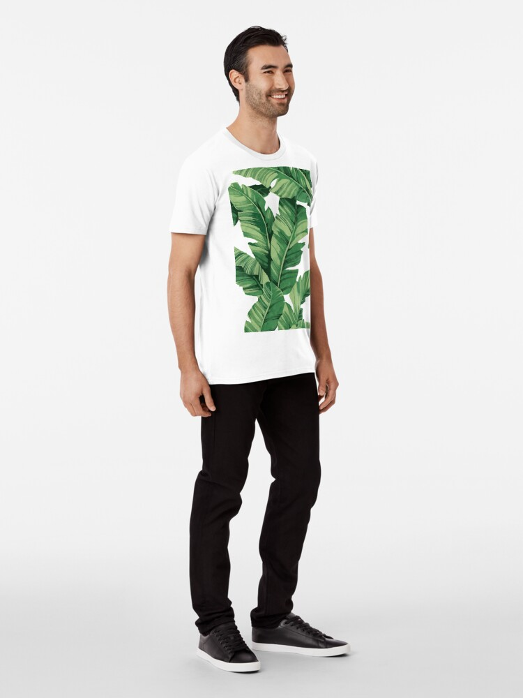 Alternate view of Tropical banana leaves Premium T-Shirt