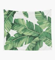 Tropical banana leaves Wall Tapestry