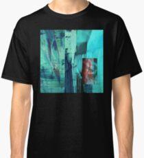 Turquoise Grunge Classic T-Shirt
