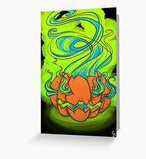 Spooky Jack-o-lantern  Greeting Card