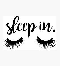 Lámina fotográfica Sleep In Eyelash Print