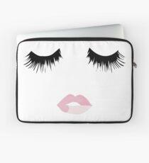 Eyelash Lip Print  Laptop Sleeve