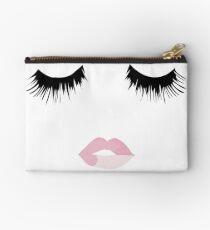 Eyelash Lip Print  Studio Pouch