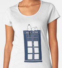 Snoopy / Dr. Who Women's Premium T-Shirt