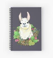 Llama Wreath Spiral Notebook