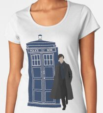 Dr. Who / Sherlock Women's Premium T-Shirt