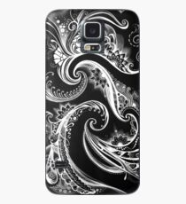 ilona ciunaite,black and white,linework, flow, floral, patterns,  Case/Skin for Samsung Galaxy
