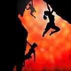 rock climbing in the sun by mindgoop