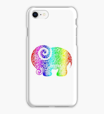 Rainbow Elephant Doodle iPhone Case/Skin