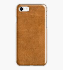 Brown leather texture closeup iPhone Case/Skin