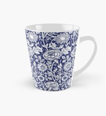 William Morris Carnations | Navy Blue and White Floral Pattern Tall Mug