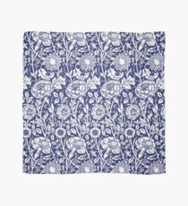 William Morris Carnations | Navy Blue and White Floral Pattern Scarf