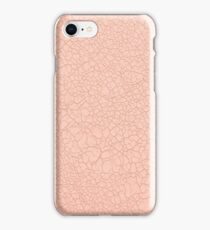 Pink leather texture iPhone Case/Skin