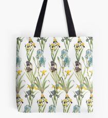 Vintage Floral Pattern   No. 2B   Irises Tote Bag
