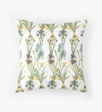 Vintage Floral Pattern | No. 2B | Irises Floor Pillow