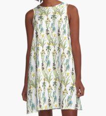 Vintage Floral Pattern | No. 2B | Irises A-Line Dress