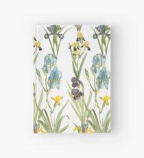 Vintage Floral Pattern   No. 2B   Irises Hardcover Journal