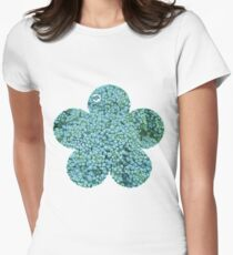 Green Broccoli Florets Women's Fitted T-Shirt