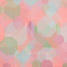 Hexagon, Square and Diamond Patterned Abstract Design by Nicola  Pearson