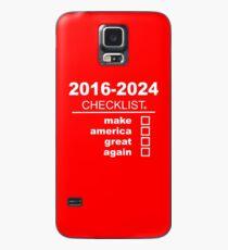 Make America Great Again   Checklist (White text) Case/Skin for Samsung Galaxy