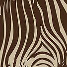 Zebra Stripes   Zebra Print   Animal Print   Chocolate Brown and Beige   Stripe Patterns   Striped Patterns   by EclecticAtHeART