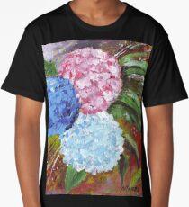 Hydrangeas in Acrylic Long T-Shirt