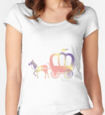 Princess carriage Women's Fitted Scoop T-Shirt