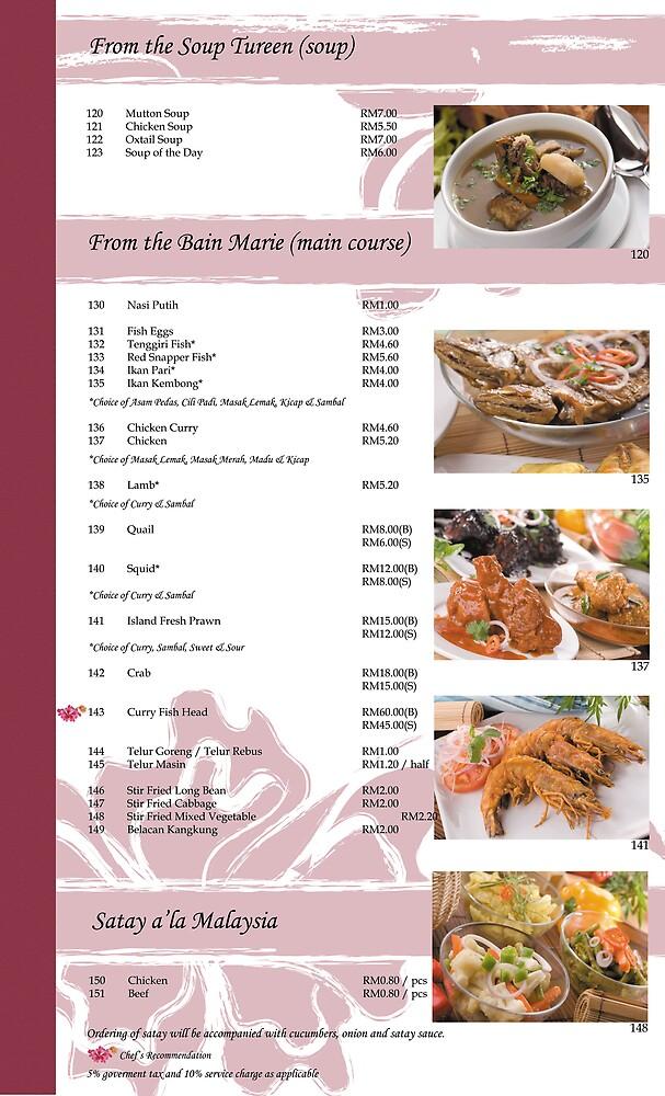food menu by julylai