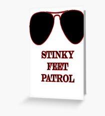 Stinky Feet Patrol Greeting Card
