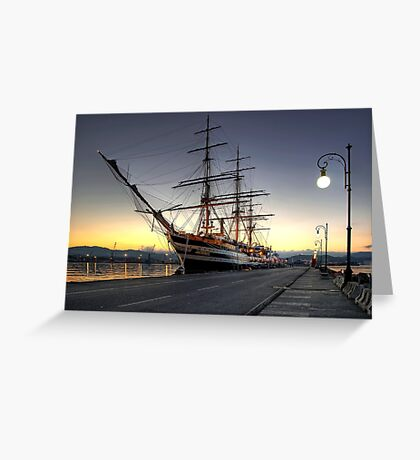 Sailing Ship in the Dawn   Greeting Card