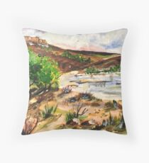 Magaliesburg landscape Throw Pillow