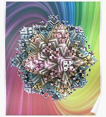 Koch-Cube Fractal Poster