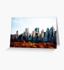 Central Park Fall View Greeting Card