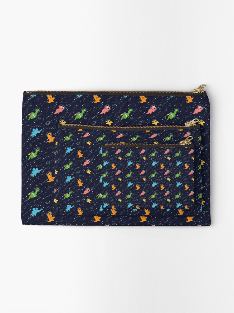 Alternate view of Dinosaurs In Space Zipper Pouch