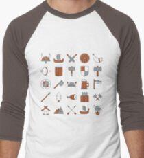 Vikings Nordic Symbols Pattern T-Shirt