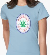 Pothead Society Womens Fitted T-Shirt