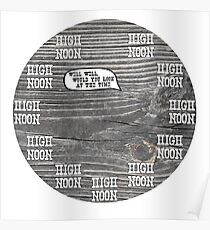 High Noon Clock Poster