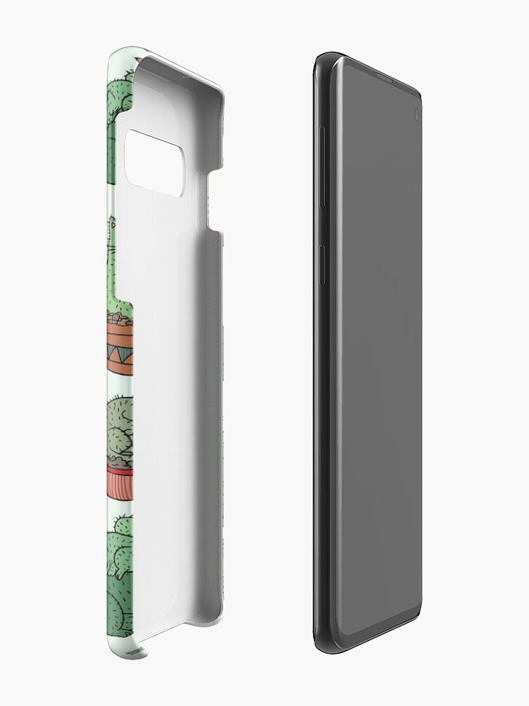 Alternative Ansicht von Kaktus Katzen Hüllen & Klebefolien für Samsung Galaxy