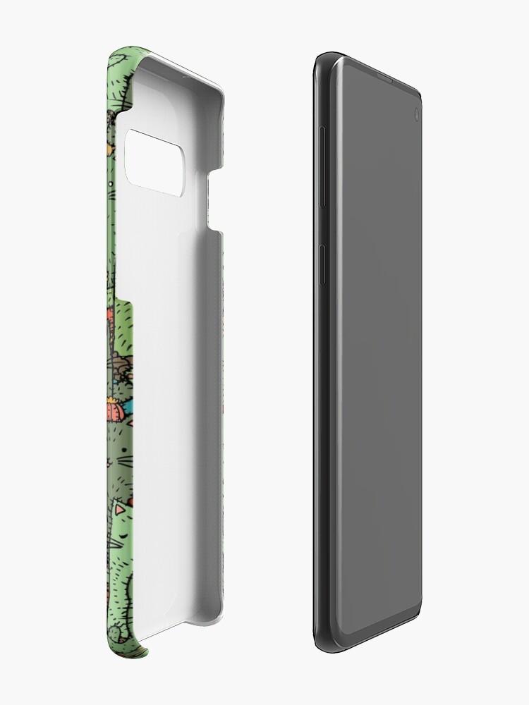 Alternate view of Catcus Garden Case & Skin for Samsung Galaxy