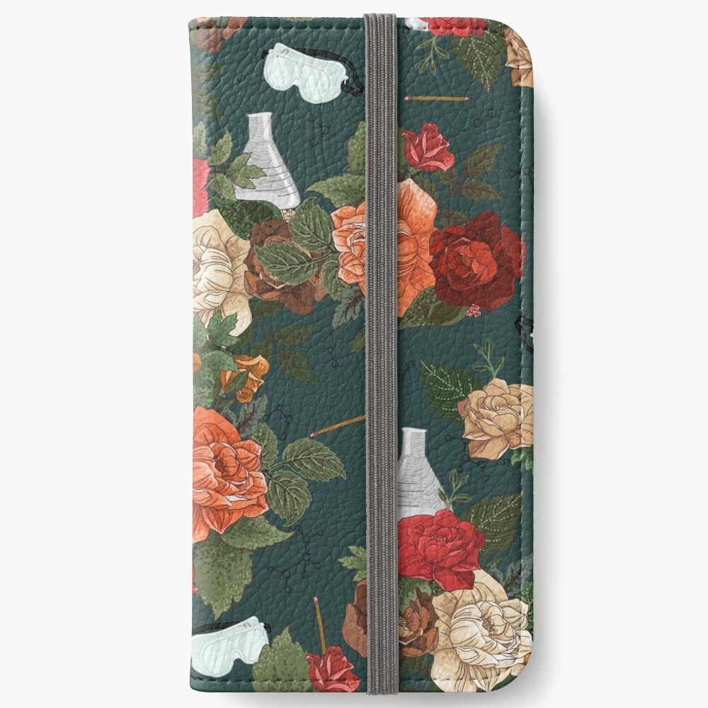 Chemistry Floral iPhone Wallet