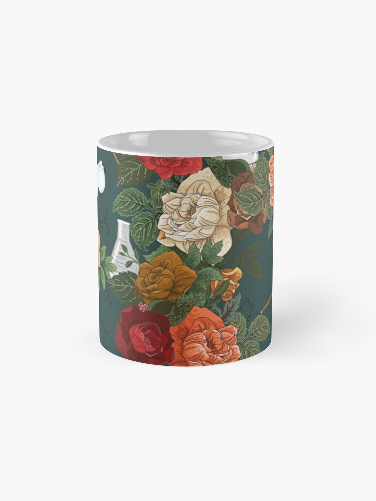 Alternate view of Chemistry Floral Mugs